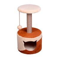Домик с лежанкой круглый малый комбинированный