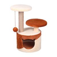 Домик с 2 лежанками круглый малый комбинированный